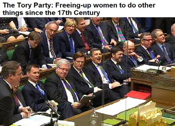 The tory party freeing upwomento do other things