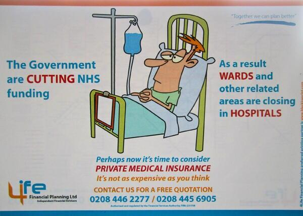 Health insurance advert