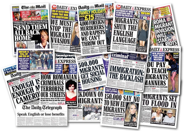 xenophobic headlines